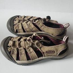 Keen sandals - tan & purple - women's size 6